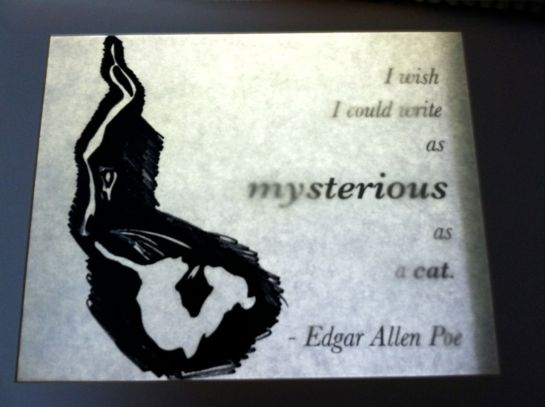Cat Illustration for Edgar Allen Poe quote14